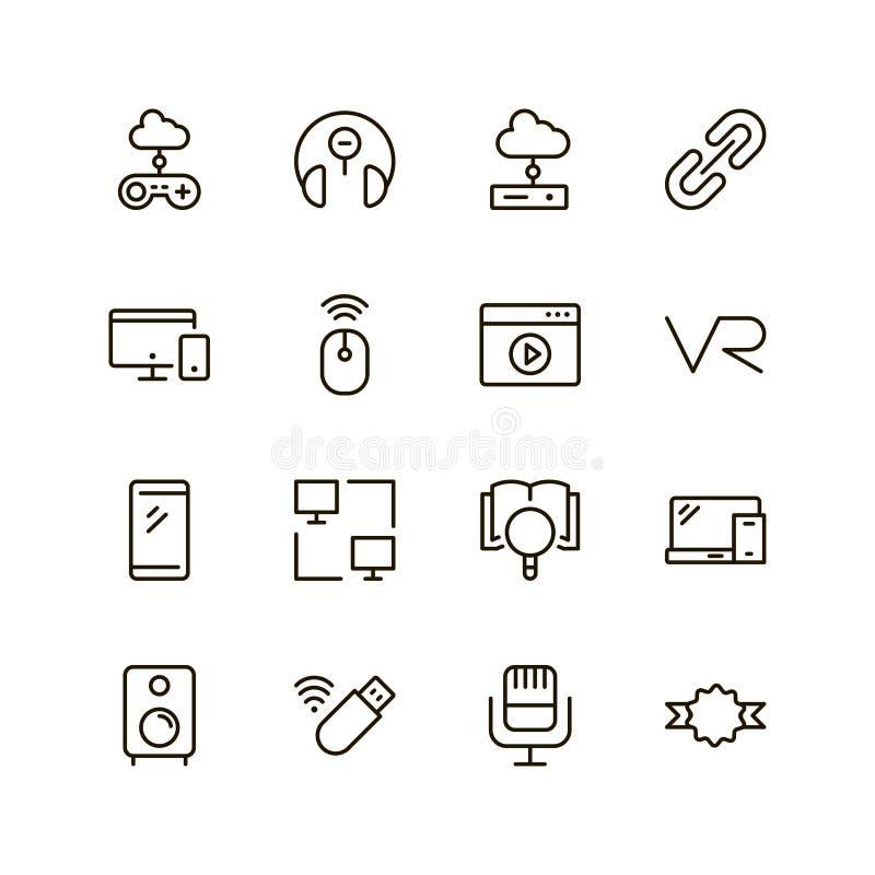 Sistema del icono del juego ilustración del vector