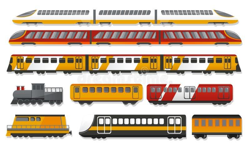 Sistema del icono del metro, estilo de la historieta libre illustration