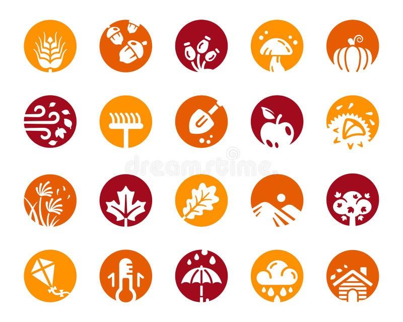 Sistema del icono del otoño libre illustration