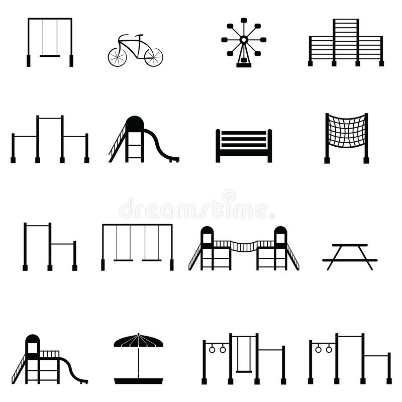 Sistema del icono del patio ilustración del vector