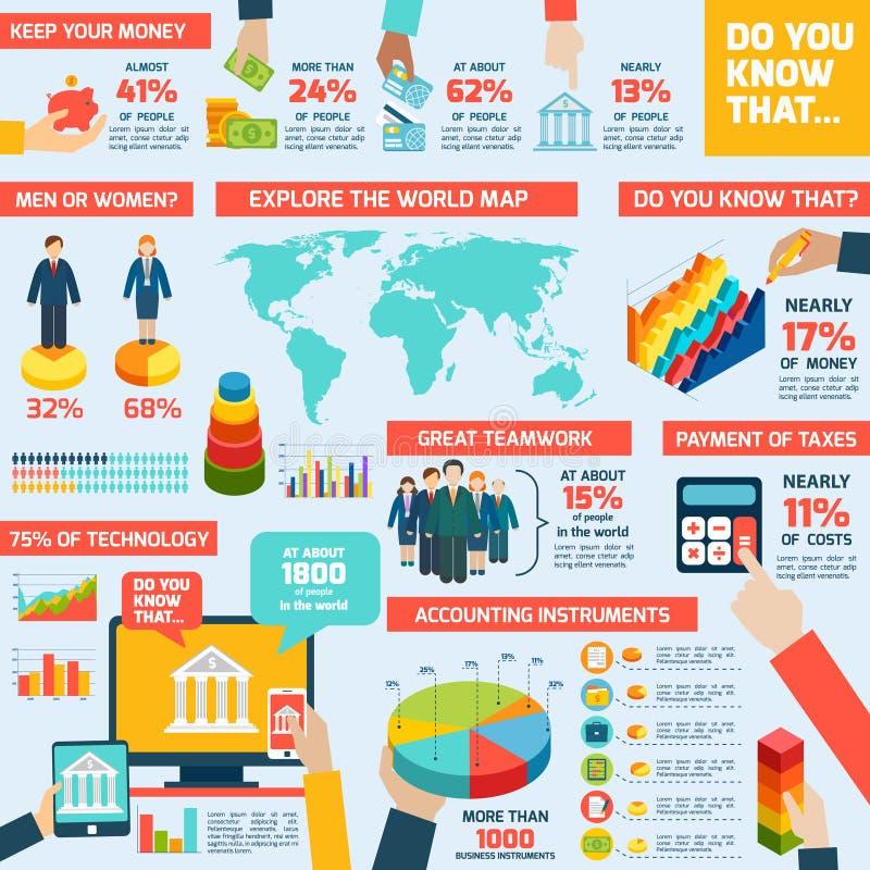 Sistema del infographics de la contabilidad ilustración del vector
