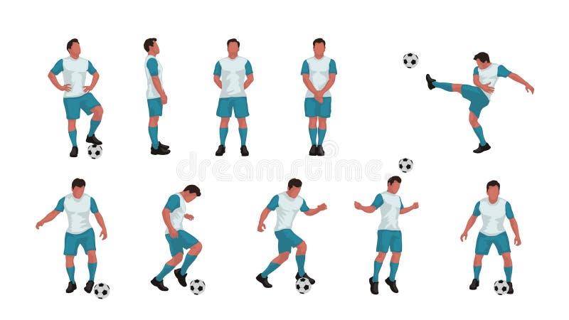 Sistema del jugador de fútbol coloreado libre illustration