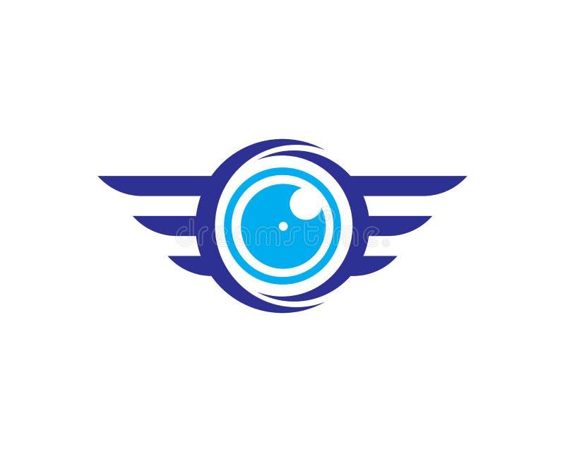 Sistema del logotipo del abejón del vector aislado en el fondo para la tienda, logotipo del servicio del abejón, etiqueta del clu ilustración del vector