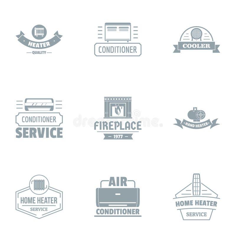 Sistema del logotipo del ambiente, estilo simple stock de ilustración