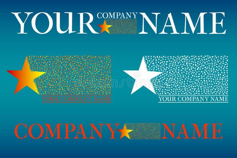 Sistema del logotipo de la compañía stock de ilustración