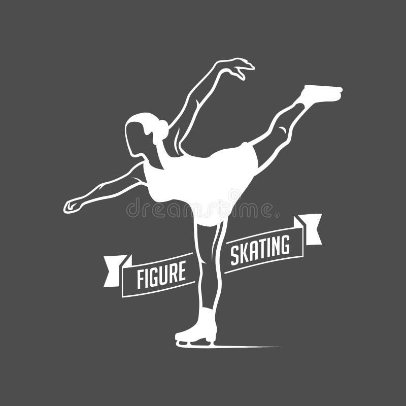 Sistema del logotipo de la etiqueta del patinaje de hielo libre illustration