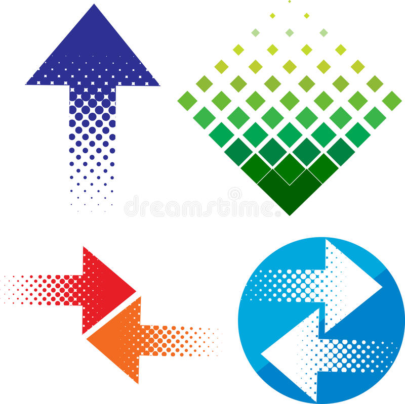 Sistema del logotipo de la flecha
