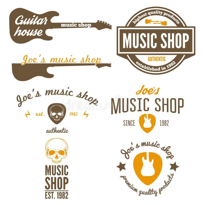 Sistema del logotipo, de la insignia, del emblema o del logotipo del vintage libre illustration