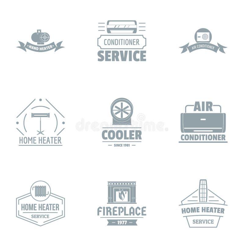 Sistema del logotipo de la refrigeración, estilo simple stock de ilustración