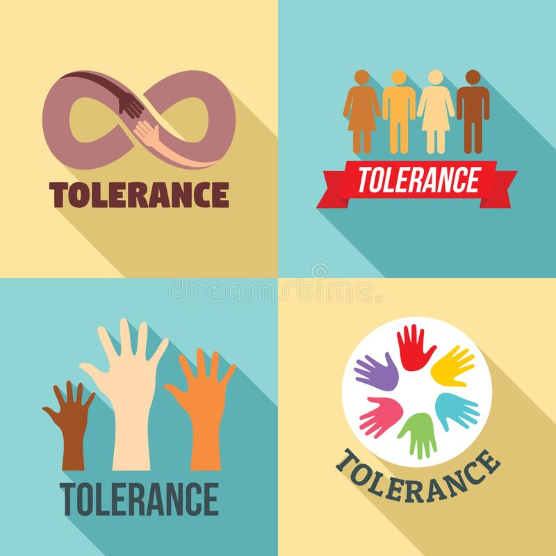 Sistema del logotipo de la tolerancia, estilo plano libre illustration