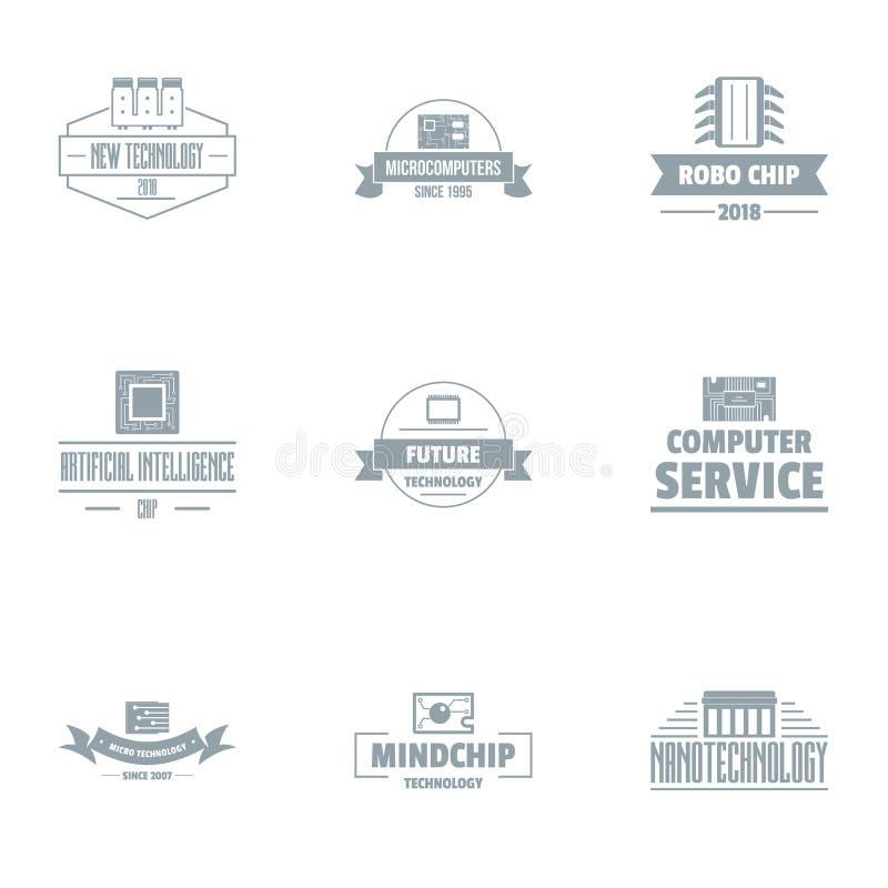 Sistema del logotipo de los servicios de los comp, estilo simple ilustración del vector