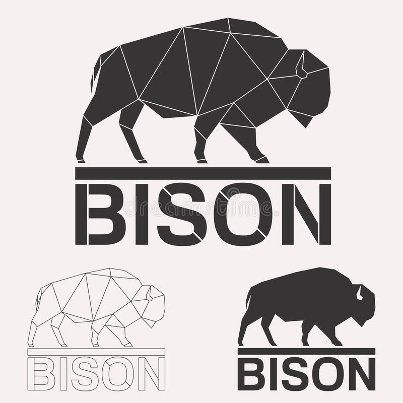 Sistema del logotipo del bisonte libre illustration