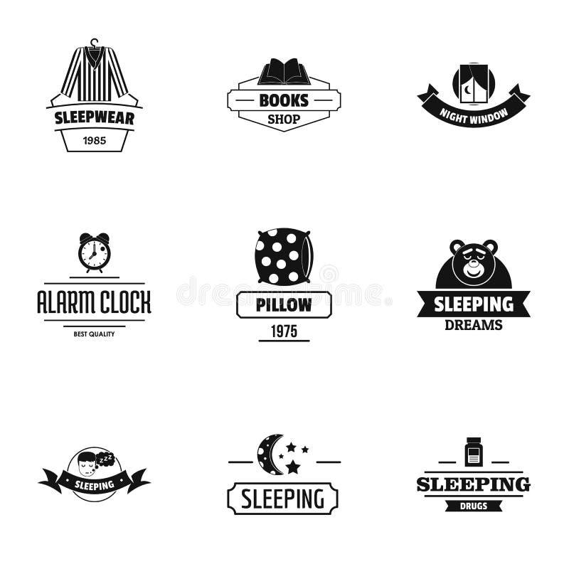 Sistema del logotipo del sueño eterno, estilo simple stock de ilustración