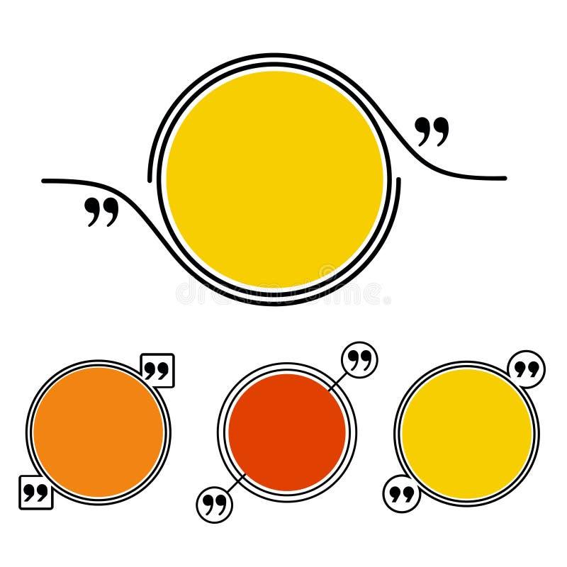 Sistema del marco de la cita ilustración del vector