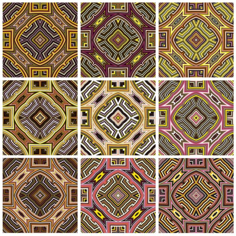 Sistema del modelo de la materia textil de Zimbabwe ilustración del vector