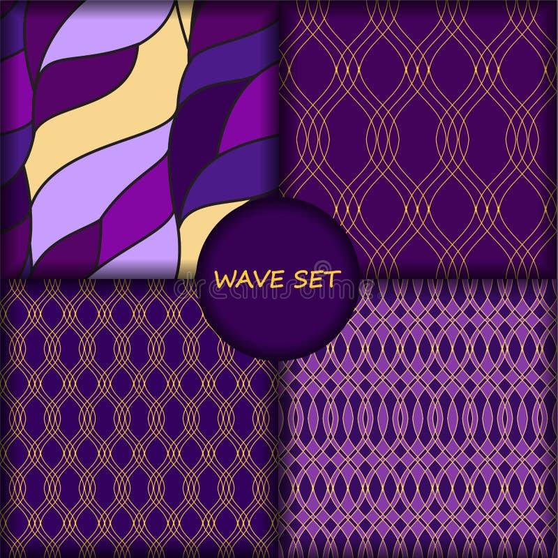 Sistema del modelo de onda inconsútil cuatro libre illustration