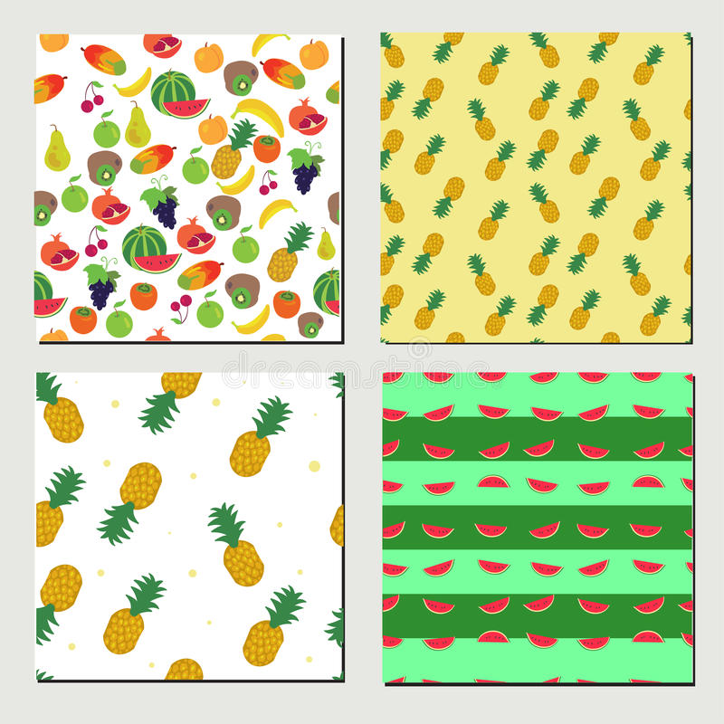 Sistema del modelo inconsútil de la fruta libre illustration