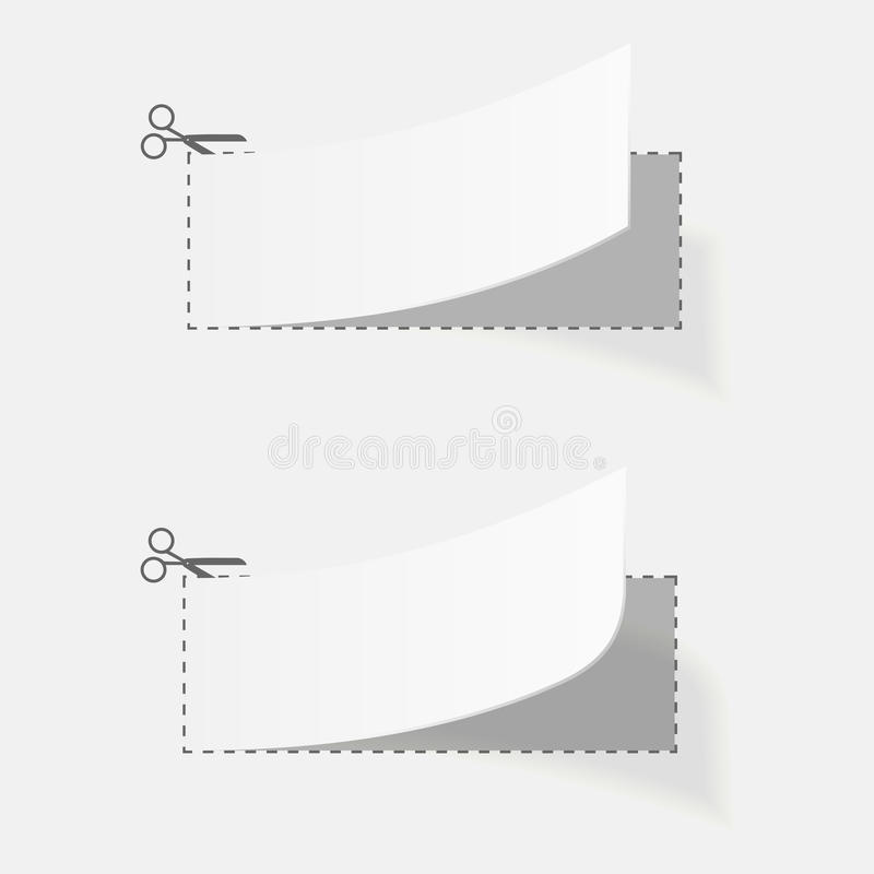 Sistema del negocio de los elementos form de la cupón de la publicidad stock de ilustración