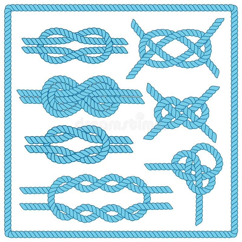 Sistema del nudo del marinero libre illustration