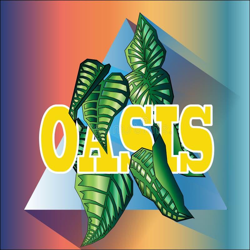 Sistema del oasis fotos de archivo