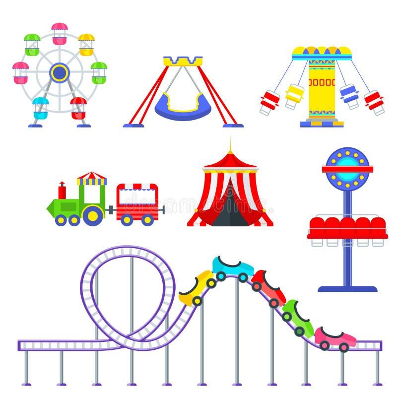 Sistema del parque de atracciones libre illustration