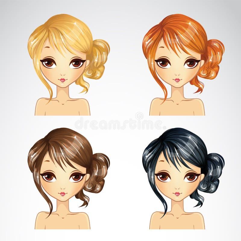 Sistema del peinado rizado libre illustration