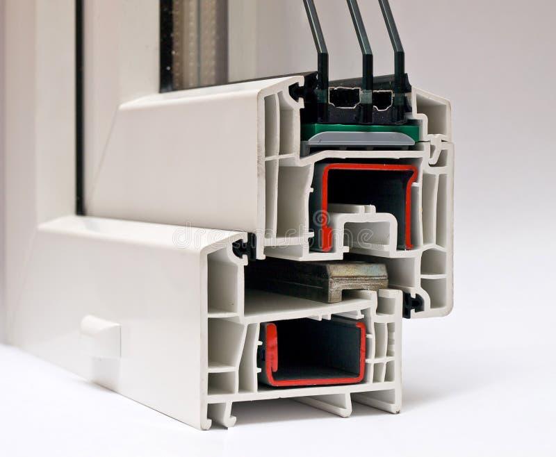 Sistema del perfil del PVC para las ventanas imágenes de archivo libres de regalías