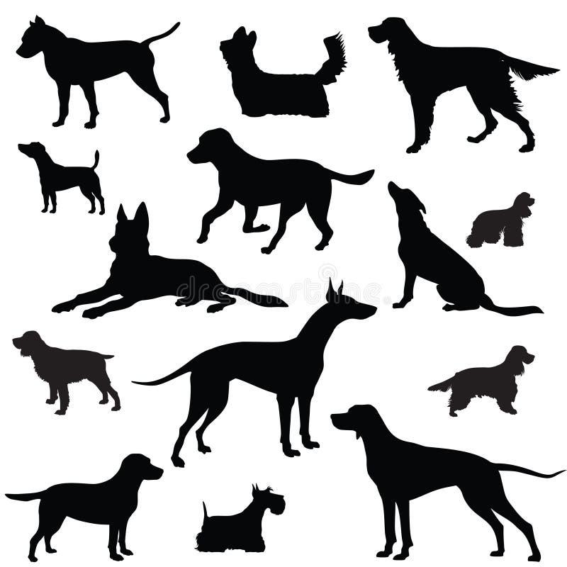 Sistema del perro. Colección de silueta ilustración del vector