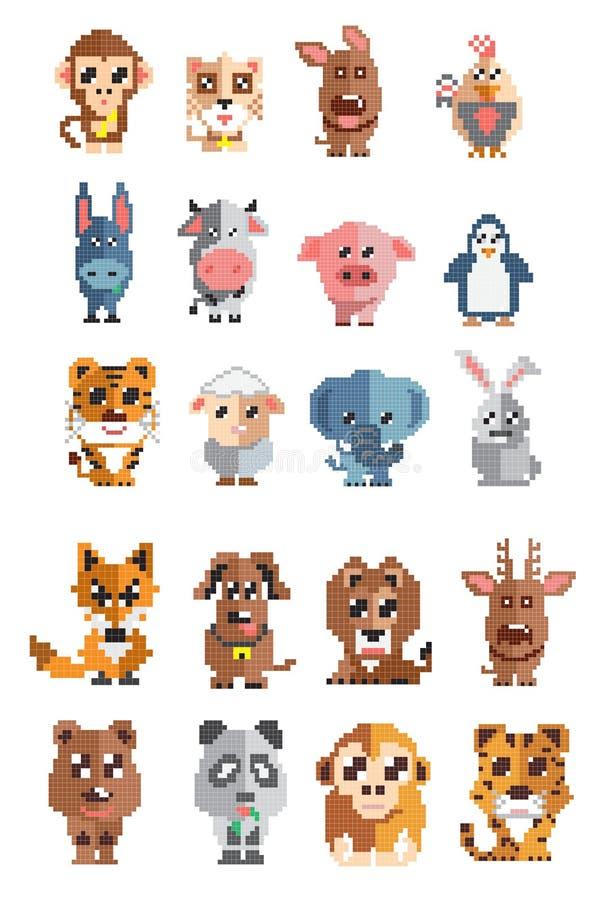 Sistema del pixel de los animales libre illustration