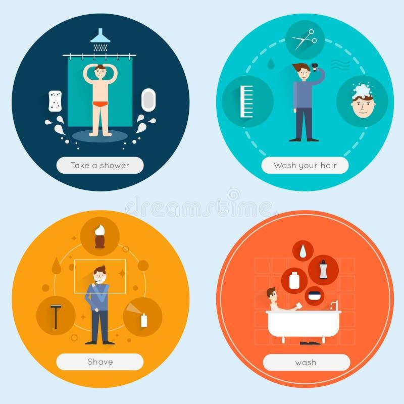 Sistema del plano de la higiene libre illustration