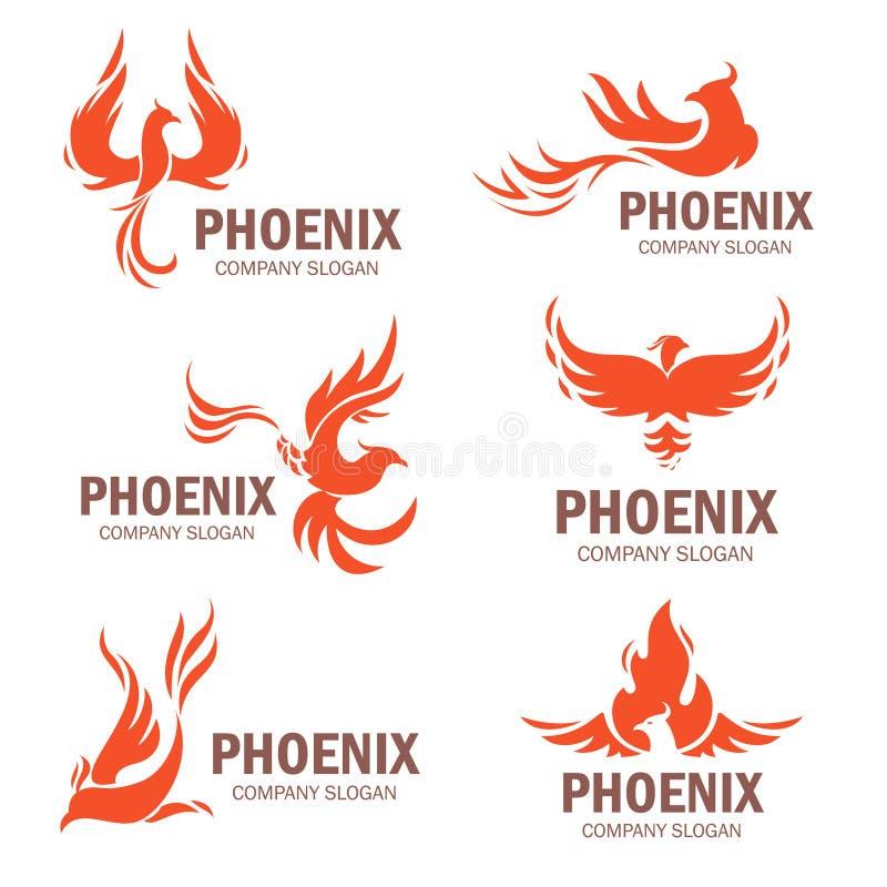 Sistema del plano del lema de la compañía de Phoenix ilustración del vector