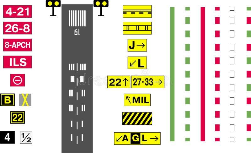 Sistema del segno dell'aerodromo fotografia stock
