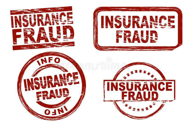 Sistema del sello de la tinta del fraude del seguro libre illustration