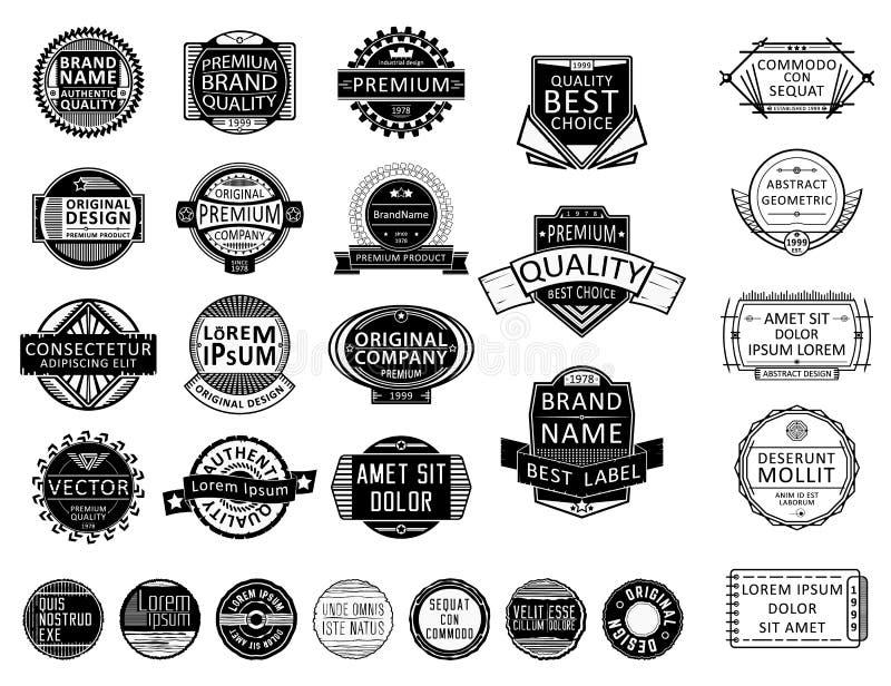 Sistema del sello de Vntage stock de ilustración