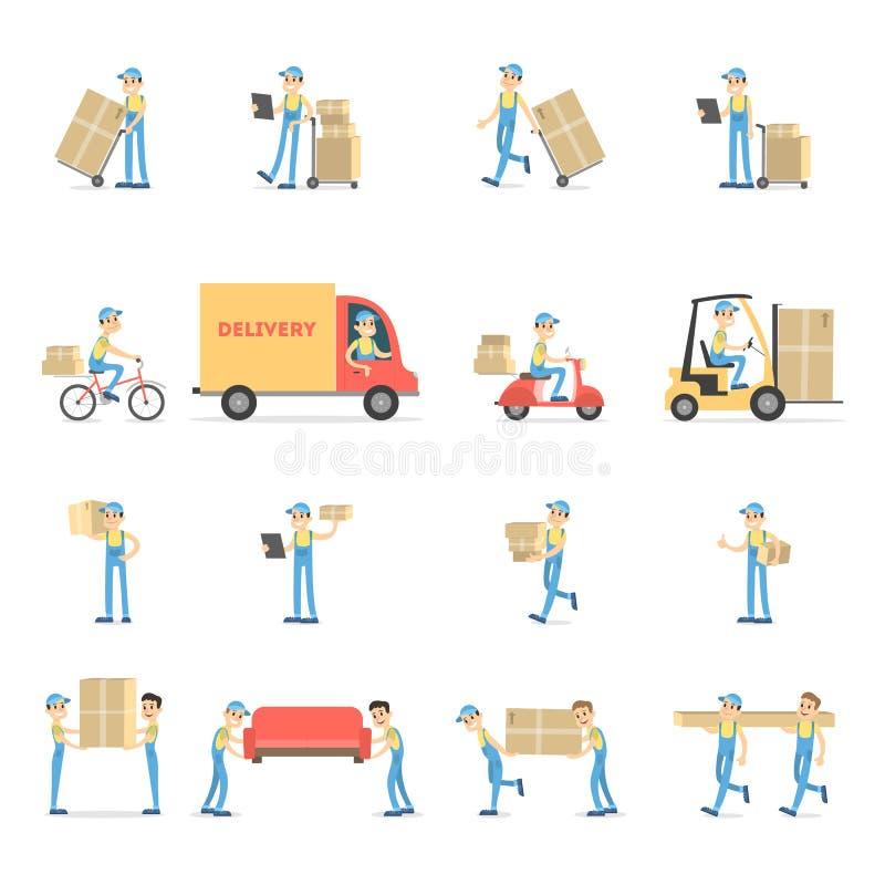 Sistema del servicio de entrega ilustración del vector
