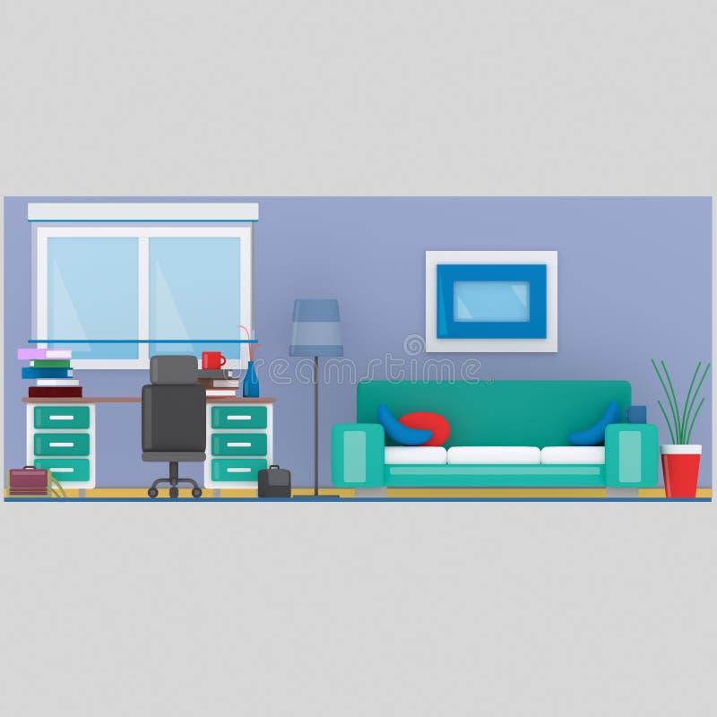 Sistema del sitio de estudio 3d ilustración del vector