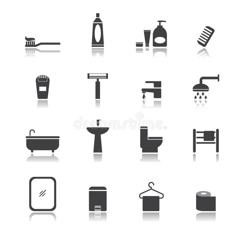 Sistema del sitio del baño libre illustration