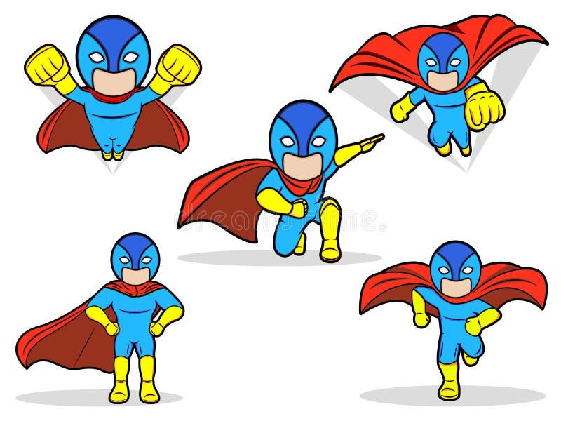 Sistema del super héroe libre illustration