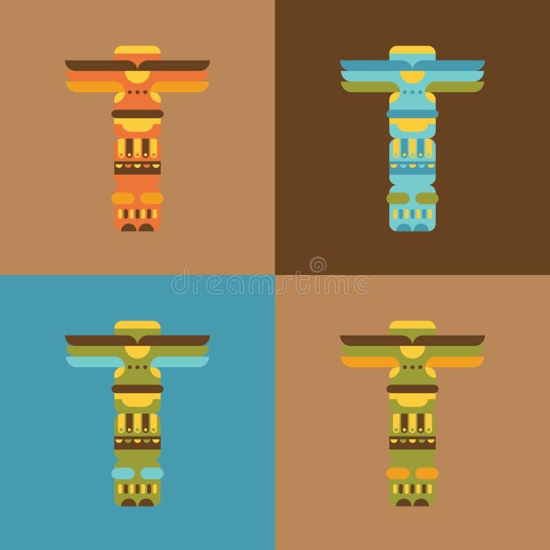 Sistema del tótem tradicional nativo libre illustration