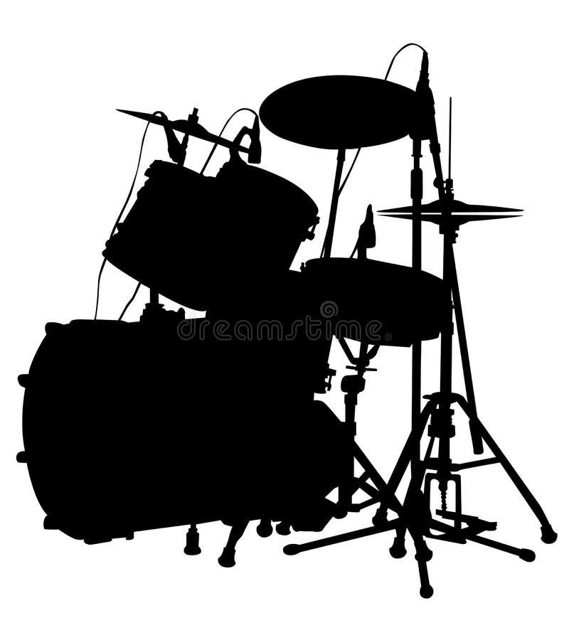 Sistema del tambor ilustración del vector