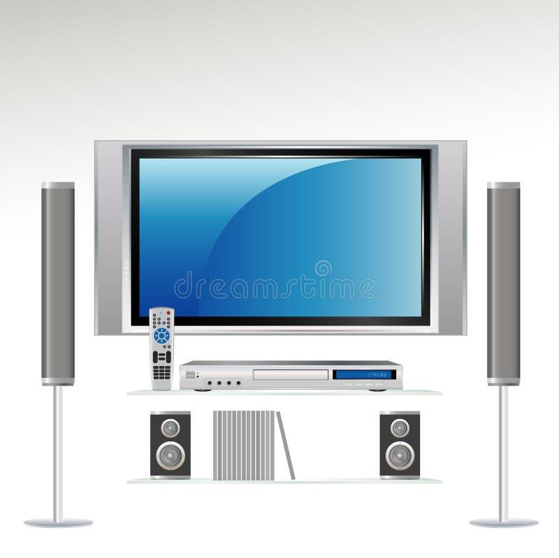 Sistema del teatro domestico   HDTV illustrazione vettoriale
