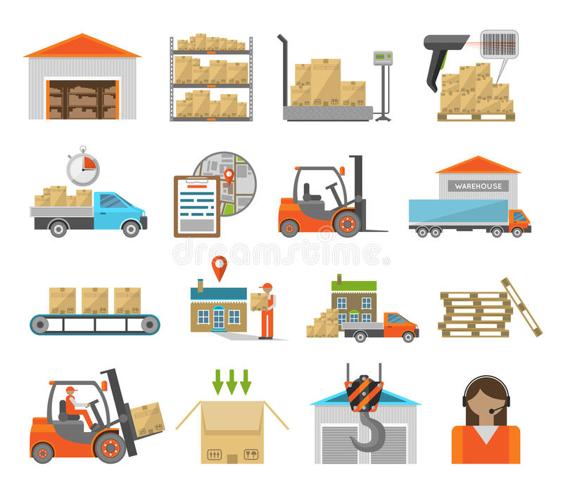 Sistema del transporte de Warehouse libre illustration