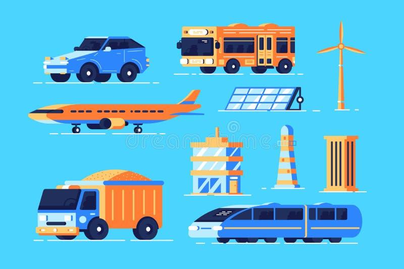 Sistema del transporte urbano stock de ilustración