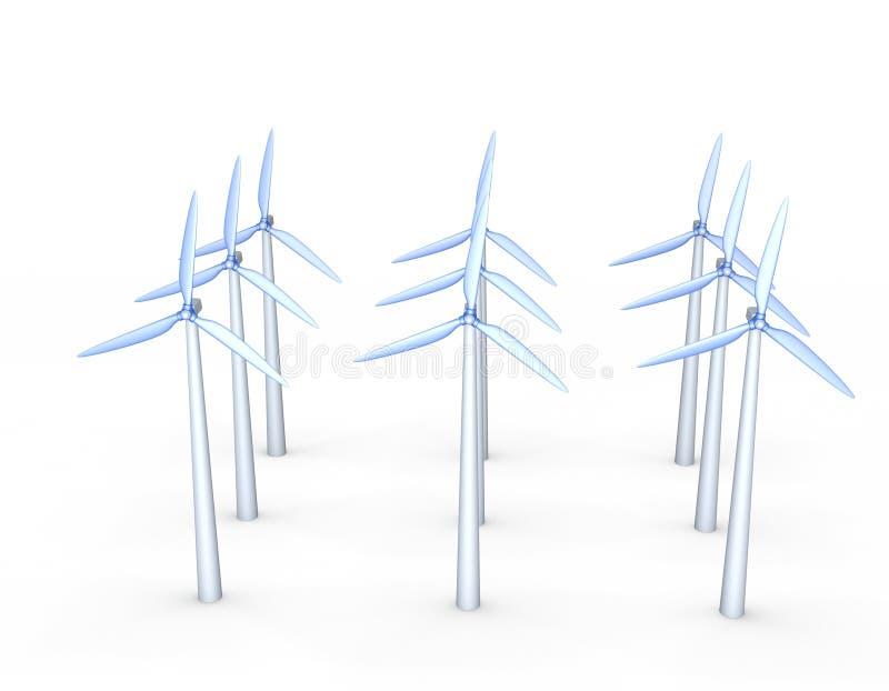 Sistema del turbin del viento ilustración de la representación 3d ilustración del vector