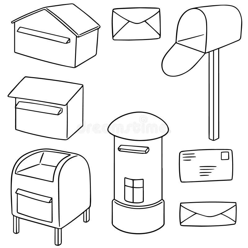 Sistema del vector del buzón de correos ilustración del vector