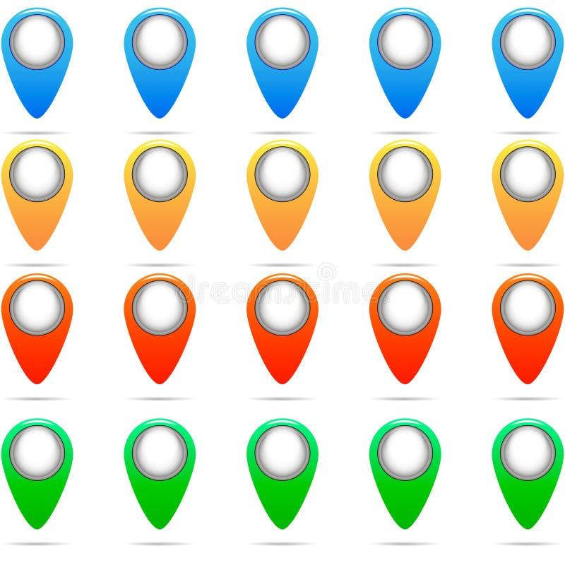 Sistema del vector colorido de los pernos foto de archivo libre de regalías