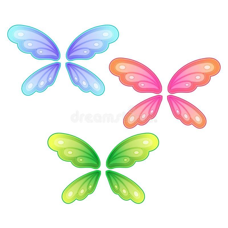 Sistema del vector de alas de la mariposa libre illustration