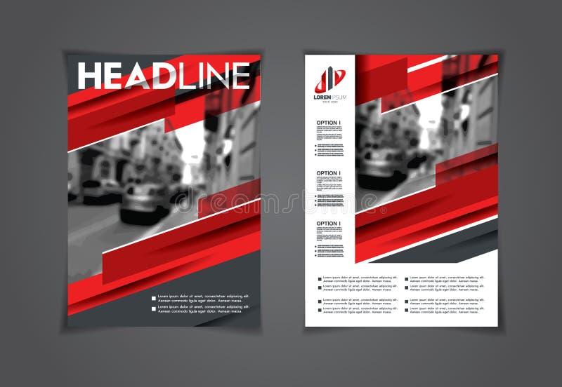 Sistema del vector de aviadores del arte folletos A4 stock de ilustración