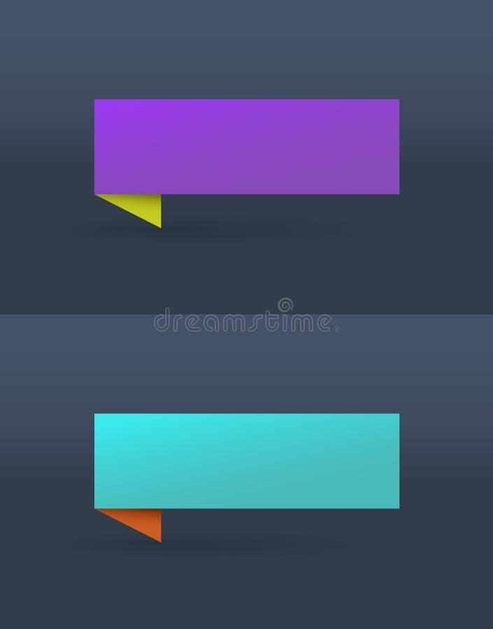 Sistema del vector de banderas brillantes simples libre illustration