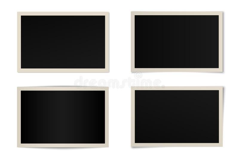 Sistema del vector de bastidores curvados de la foto stock de ilustración